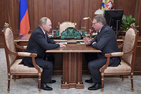 На встрече с президентом Владимиром Путиным